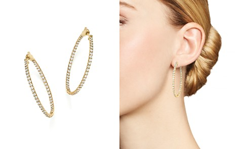 Diamond Inside Out Hoop Earrings in 14K Yellow Gold, 2.0 ct. t.w. - Bloomingdale's_2